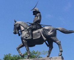 仙台城址に建つ伊達政宗像