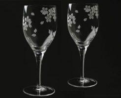 新着情報♪ 江戸切子 桜ワイングラス