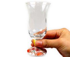 【送料無料対象!】九谷和冷酒グラス「フラワー」