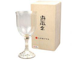 【送料無料は本日まで!】九谷和ワイングラス「白粒鉄仙」