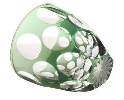【新着情報♪】江戸切子ぐい吞み水玉万華鏡・緑
