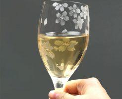 花切子 桜が満開のワイングラスが再登場♪