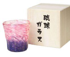 【新着情報♪】琉球ガラスのフリーグラス「紺碧の夕日」