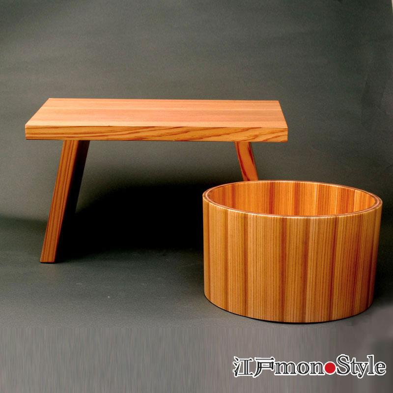 【再入荷】【日光杉】湯桶と風呂椅子を再入荷しました!