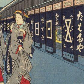 呉服店が描かれた広重の浮世絵