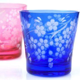 桜の江戸切子ロックグラス新着情報♪】