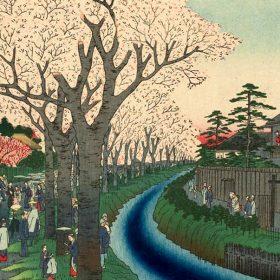 幻の景色が描かれた珍しい浮世絵
