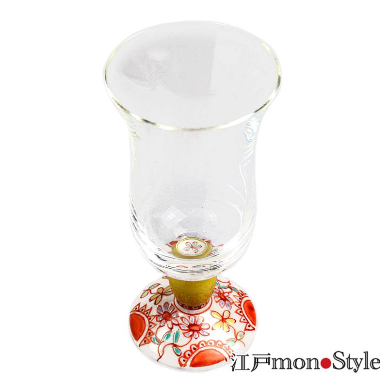 九谷和冷酒グラス フラワー