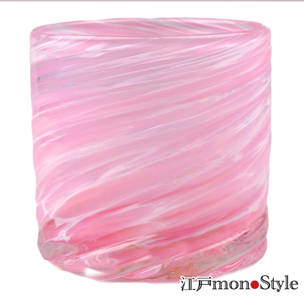 琉球ガラス ロックグラス美ら海 ピンク