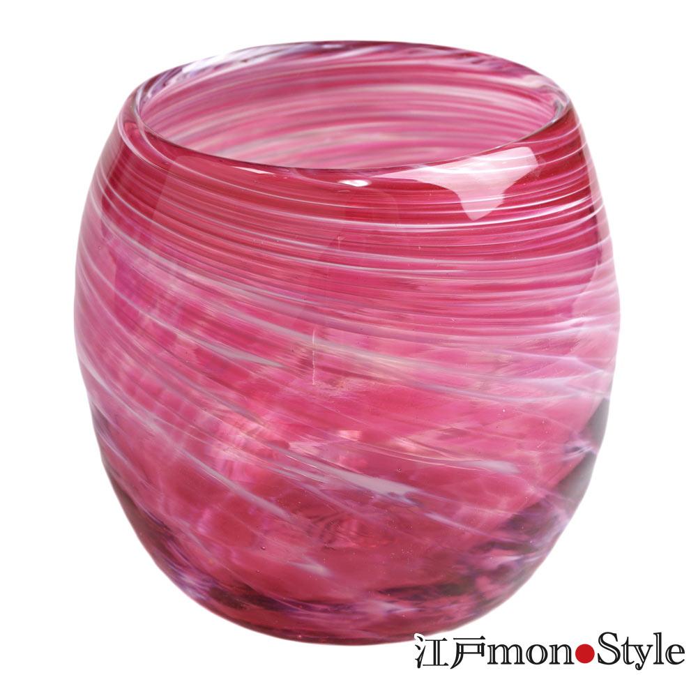 琉球ガラス タルグラス美ら海 ワインレッド